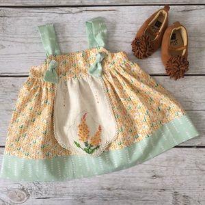 Handmade Vintage Fabric OOAK Apron Dress